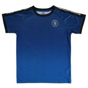 Chelsea Gradient Effect Printed Poly T-Shirt – Blue – Boys