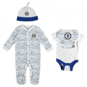 Chelsea 4pc Baby Giftset - 2 Bodysuit Cap and Bib - White/Blue - Baby