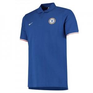 Chelsea Crew Pique Polo - Blue