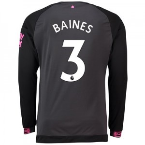 Everton Away Shirt 2018-19 - Long Sleeve with Baines 3 printing