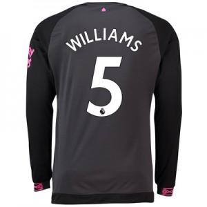 Everton Away Shirt 2018-19 - Long Sleeve with Williams 5 printing