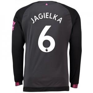 Everton Away Shirt 2018-19 - Long Sleeve with Jagielka 6 printing