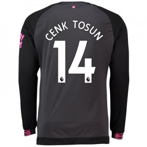 Everton Away Shirt 2018-19 - Long Sleeve with Cenk Tosun 14 printing