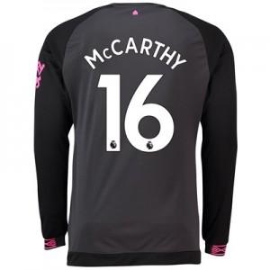 Everton Away Shirt 2018-19 - Long Sleeve with McCarthy 16 printing