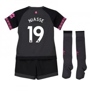 Everton Away Baby Kit 2018-19 with Niasse 19 printing