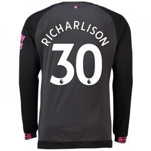 Everton Away Shirt 2018-19 - Long Sleeve with Richarlison 30 printing