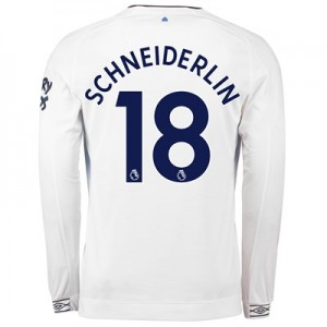 Everton Third Shirt 2018-19 - Long Sleeve with Schneiderlin 18 printing