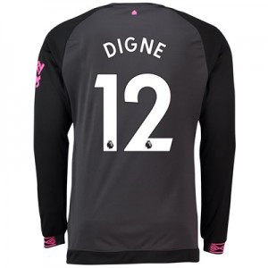 Everton Away Shirt 2018-19 – Long Sleeve with Digne 12 printing