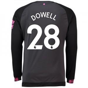 Everton Away Shirt 2018-19 - Long Sleeve with Dowell 28 printing