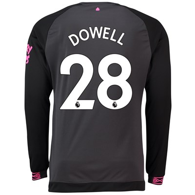 Everton Away Shirt 2018-19 - Long Sleeve with Dowell 28 printing