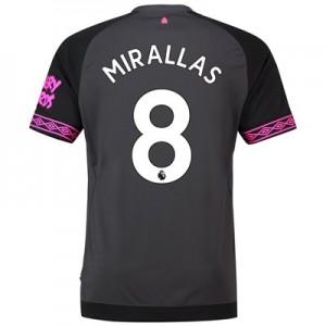 Everton Away Shirt 2018-19 with Mirallas 8 printing