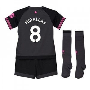 Everton Away Baby Kit 2018-19 with Mirallas 8 printing