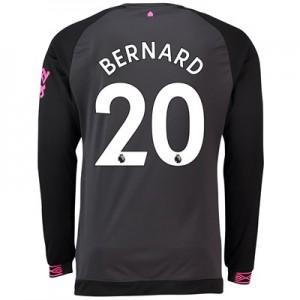 Everton Away Shirt 2018-19 – Long Sleeve with Bernard 20 printing