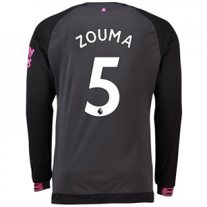 Everton Away Shirt 2018-19 - Long Sleeve with Zouma 5 printing