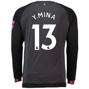 Everton Away Shirt 2018-19 - Long Sleeve with Y.Mina 13 printing