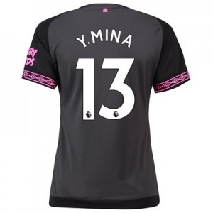 Everton Away Shirt 2018-19 – Womens with Y.Mina 13 printing