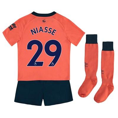 Everton Away Infant Kit 2019-20 with Niasse 29 printing