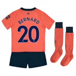 Everton Away Infant Kit 2019-20 with Bernard 20 printing