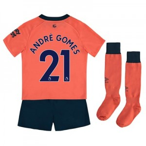 Everton Away Infant Kit 2019-20 with André Gomes 21 printing