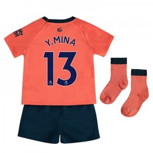 Everton Away Baby Kit 2019-20 with Y.Mina 13 printing