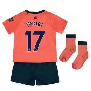 Everton Away Baby Kit 2019-20 with Iwobi 17 printing