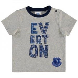 Everton Baby Split word T Shirt – Grey Marl – Boys