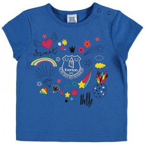 Everton Baby Random Print T Shirt – Royal – Girls