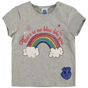 Everton Baby Glitter T Shirt – Grey Marl – Girls