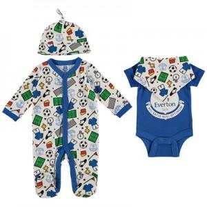 Everton Baby Football A/O Print Layette - Royal - Boys