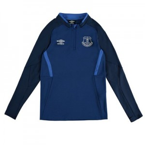 Everton Half Zip Sweatshirt – Dark Blue – Kids