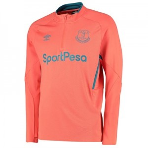 Everton Training Half Zip Sweatshirt - Coral