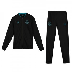 Everton Travel Knitted Tracksuit – Black – Kids