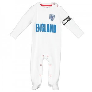 England Kit Sleepsuit - White
