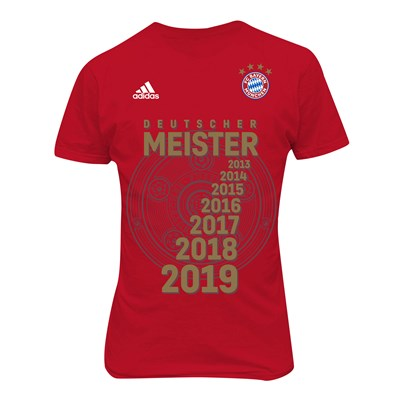 FC Bayern Bundesliga Winners T-Shirt - Red