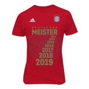 FC Bayern Bundesliga Winners T-Shirt – Red – Kids
