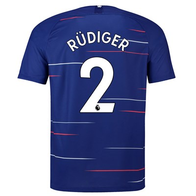 Chelsea Home Stadium Shirt 2018-19 with Rüdiger 2 printing