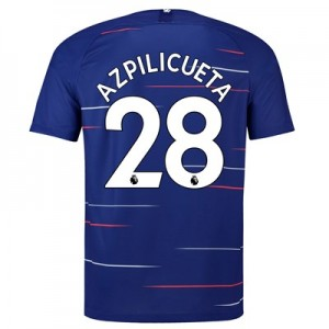 Chelsea Home Stadium Shirt 2018-19 with Azpilicueta 28 printing