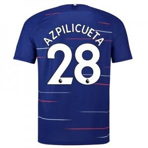 Chelsea Home Stadium Shirt 2018-19 with Azpilicueta 28 printing