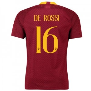AS Roma Home Stadium Shirt 2018-19 with De Rossi 16 printing