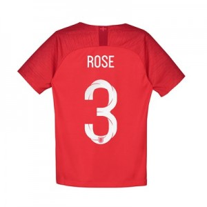 England Away Stadium Shirt 2018 - Kids with Rose 3 printing