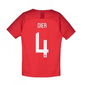 England Away Stadium Shirt 2018 – Kids with Dier 4 printing
