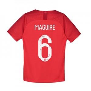 England Away Stadium Shirt 2018 - Kids with Maguire 6 printing