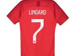 England Away Stadium Shirt 2018 - Kids with Lingard 7 printing