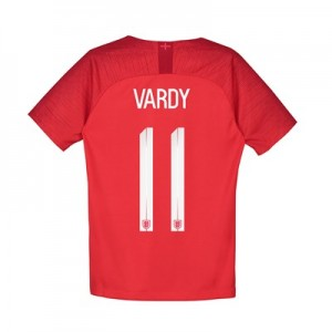 England Away Stadium Shirt 2018 - Kids with Vardy 11 printing