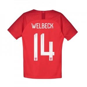 England Away Stadium Shirt 2018 - Kids with Welbeck 14 printing