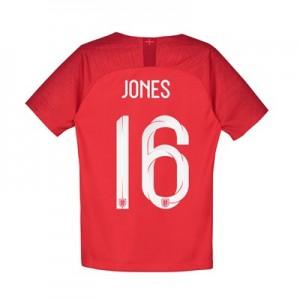 England Away Stadium Shirt 2018 - Kids with Jones 16 printing