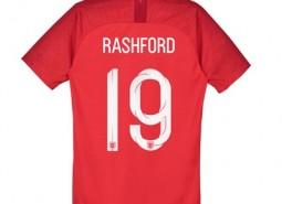 England Away Stadium Shirt 2018 - Kids with Rashford 19 printing
