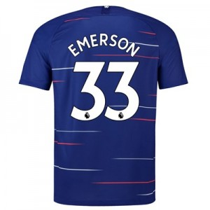 Chelsea Home Stadium Shirt 2018-19 with Emerson 33 printing