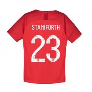 England Away Stadium Shirt 2018 - Kids with Staniforth 23 printing