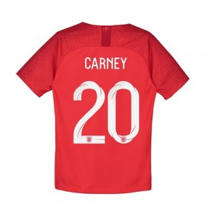 England Away Stadium Shirt 2018 - Kids with Carney 20 printing
